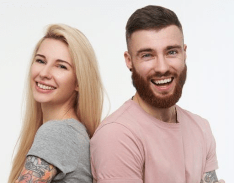 Picture of couple with arm tattoos